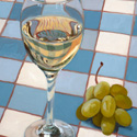 Wine and Grapes. Oil